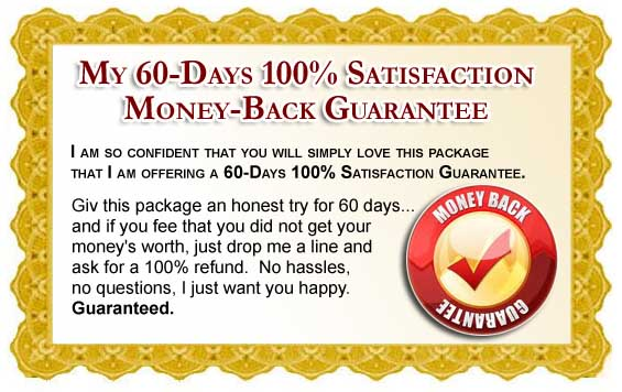 60 Day Unconditional Money Back Guarantee