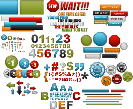 Internet Marketing Web Graphics Pack - All Samples