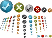 Internet Marketing Web Graphics Pack - Checkmarks and Bullets