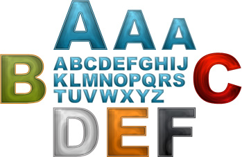 Internet Marketing Web Graphics Pack - Letters Samples