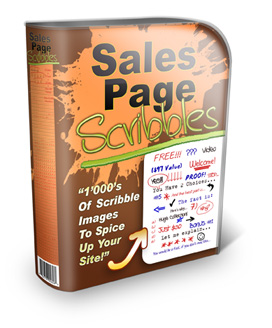 Sales Page Scribbles Web Graphics