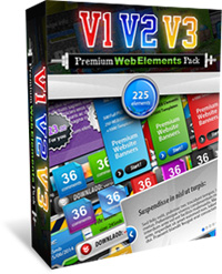 Website Graphics - Premium Web Elements Triple Pack