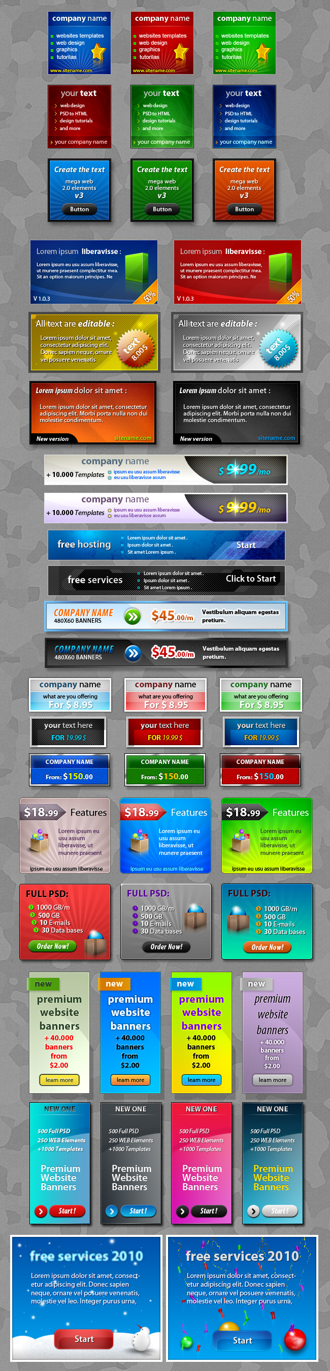 Web Banner Graphics Samples