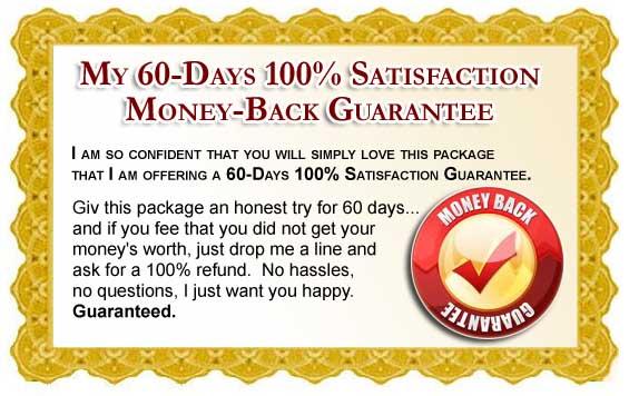 60 Day Unconditional Money Back Guarantee