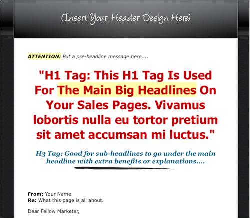 Amazing Mini Site Template - Template Variation 2
