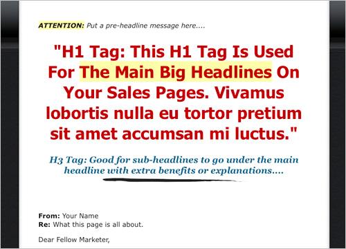 Amazing Mini Site Template - Template Variation 3