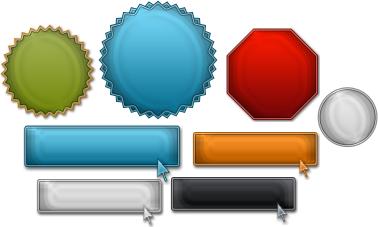 Internet Marketing Web Graphics Pack - Blank Elements