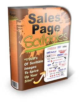Sales Page Scribbles Web Graphics