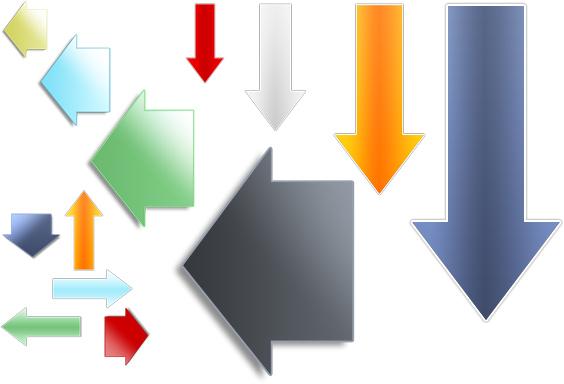 Web 2.0 Graphics - Arrows Sample