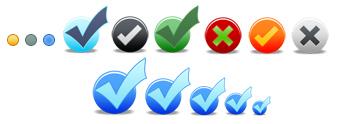 Web 2.0 Graphics - Bullets and Checkmarks Sample