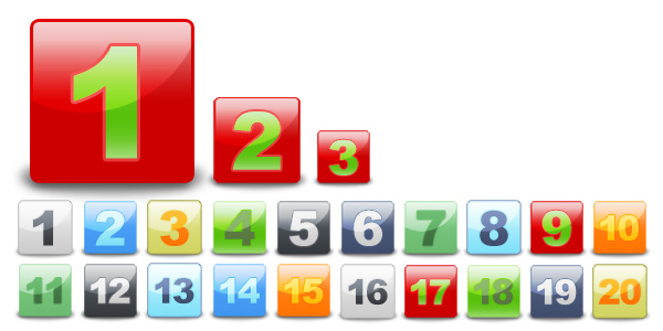 Web 2.0 Graphics - Numbers Samples