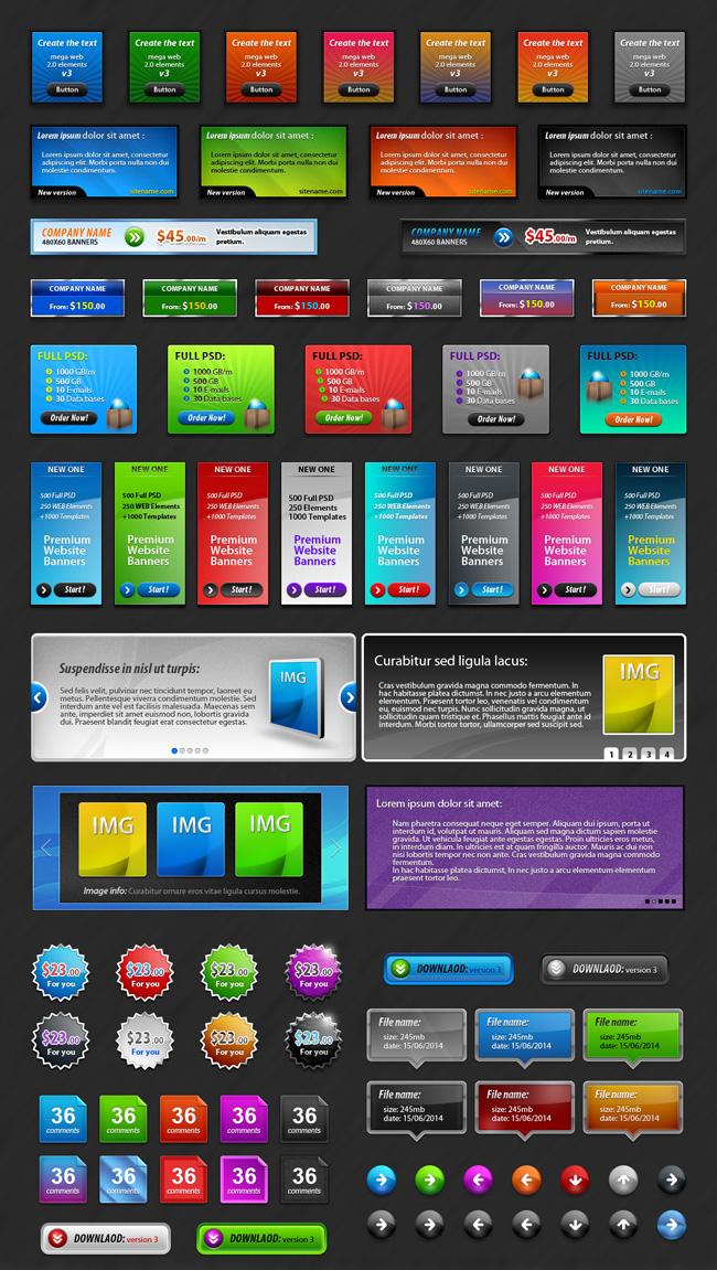 Website Graphics - Premium Web Elements Pack 3 Preview