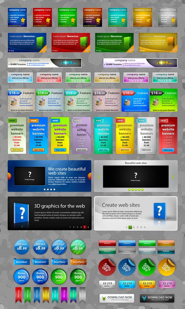 Website Graphics - Premium Web Elements Pack 1